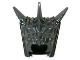 Part No: 13767pb01  Name: Minifigure, Headgear Helmet Spiked with Hood Black Pattern