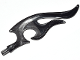 Part No: 18396pb03  Name: Wave Rounded Double with Axle (Flame) with Marbled Black Pattern