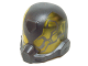 Part No: 20923c01pb01  Name: Minifigure, Headgear Helmet Space with Trans-Yellow Visor with Pearl Dark Gray Bug Pattern