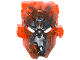 Part No: 24164pb02  Name: Bionicle Mask Umarak Hunter with Marbled Trans-Neon Orange Pattern