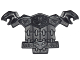 Part No: 25110  Name: Minifig, Armor Breastplate with Snakes on Collar and Belt, Chain Mail, Shoulder Pads with Snake Heads and 1 Stud on Back
