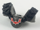 Part No: 34706c01pb01  Name: Minifigure, Armor Breastplate with Rubber Tire Treads and Red Crooked Bat Pattern
