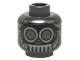 Part No: 3626cpb1424  Name: Minifigure, Head Alien Black Mask with Goggles and Metal Mouth Grate Pattern - Hollow Stud