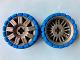 Part No: 47349c03  Name: Wheel 72 x 34 with Blue Tire 94 x 40 Balloon Offset Tread