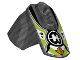 Part No: 90640pb006  Name: Hero Factory Armor with Ball Joint Socket - Size 4 with Orange Arrows, Lime and White Chevrons, and Hero Factory Logo Pattern