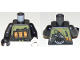 Part No: 973pb3258c01  Name: Torso Ninjago Slot Machine Pattern / Black Arm Left / Pearl Dark Gray Arm Right / White Hand Left / Black Hand Right