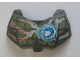 Part No: 98603pb005  Name: Large Figure Chest Armor Small with Chi and Olive Green (Crocodile) Pattern