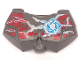 Part No: 98603pb006  Name: Large Figure Chest Armor Small with Chi and Dark Red (Wolf) Pattern