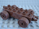 Part No: 2312c04  Name: Duplo Car Base 2 x 6 with Brown Wheels and Open Hitch End