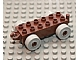 Part No: 2312c05  Name: Duplo Car Base 2 x 6 with Light Gray Wheels and Open Hitch End