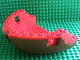 Part No: 2557c02  Name: Boat Hull Large Bow 12 x 16 x 5 1/3 Complete Assembly, Top Color Red