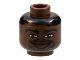Part No: 3626bpb0134  Name: Minifigure, Head NBA Tim Duncan Pattern - Blocked Open Stud
