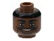 Part No: 3626bpb0135  Name: Minifigure, Head NBA Ray Allen Pattern - Blocked Open Stud