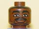 Part No: 3626bpb0143  Name: Minifigure, Head NBA Chris Webber Pattern - Blocked Open Stud