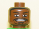 Part No: 3626bpb0146  Name: Minifigure, Head NBA Paul Pierce Pattern - Blocked Open Stud
