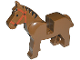 Part No: 4493c01pb01  Name: Horse with Black Eyes, Red Bridle, Black Mane Pattern