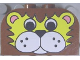 Part No: 4744px6  Name: Brick, Modified 2 x 4 x 2 Double Curved Top with Lion Face Pattern
