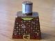 Part No: 973pb0092  Name: Torso Castle Dark Forestman Studded Shirt and Brown Crossbelt Pattern