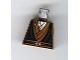 Part No: 973px156  Name: Torso SW Layered Shirt, Black Vest and Padawan Braid Pattern
