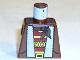 Part No: 973px186  Name: Torso Adventurers Orient Jacket Fur Lining, Striped Shirt, Bandana Pattern