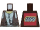 Part No: 973px190a  Name: Torso Adventurers Desert Vest over White Shirt, Slingshot Pattern - LEGO Logo on Back