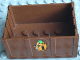Part No: x516pb01  Name: Container, Trunk Bottom 4 x 6 x 2 1/3 with Padlock Pattern on Two Sides (Stickers) - Set 3635