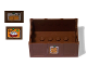 Part No: x516pb02  Name: Container, Trunk Bottom 4 x 6 x 2 1/3 with Cheese on Front, Bread on Right Side, Eggs on Left Side Pattern (Stickers) - Set 3667