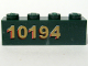 Part No: 3010pb097L  Name: Brick 1 x 4 with Gold '10194' Left Side Pattern (Sticker) - Set 10194