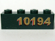 Part No: 3010pb097R  Name: Brick 1 x 4 with Gold '10194' Right Side Pattern (Sticker) - Set 10194