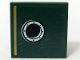Part No: 3068bpb0668  Name: Tile 2 x 2 with Gold Stripe and Porthole Pattern Model Left, Left Panel (Sticker) - Set 10194
