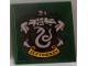 Part No: 3068bpb1231  Name: Tile 2 x 2 with Groove with Slytherin Crest Pattern (Sticker) - Set 71043
