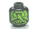Part No: 3626cpb0665  Name: Minifigure, Head Lime Face, Large Eyes, Long Nose and Large Upper Teeth Pattern - Hollow Stud