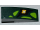 Part No: 50950pb052L  Name: Slope, Curved 3 x 1 No Studs with Lime Scales and Yellow Diamond Pattern Model Left Side (Sticker) - Set 9450