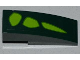 Part No: 50950pb053R  Name: Slope, Curved 3 x 1 No Studs with 3 Lime Scales Pattern Model Right Side (Sticker) - Set 9450