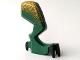 Part No: 62436c01pb03  Name: Dragon Leg (Fantasy Era) Right with Black Claws and Metallic Gold Hip Pattern