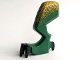 Part No: 62438c01pb03  Name: Dragon Leg (Fantasy Era) Left with Black Claws and Metallic Gold Hip Pattern