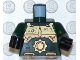 Part No: 973pb0157c01  Name: Torso Exo-Force Gold Body Armor with Large Star and 'AT.10' Pattern / Dark Green Arms / Black Hands