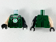 Part No: 973pb3453c01  Name: Torso Muscles Outline, Green Lantern Logo, Silver Chain Pattern / Black Arm Left with Silver Cuff Pattern / Light Flesh Arm Right / Black Hands