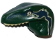 Part No: 98065pb05  Name: Dino Head Raptor with Pin Hole, Tan Teeth and Tan and Dark Blue Marks Pattern