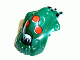 Part No: x1867px2  Name: Minifigure, Head Modified Bionicle Barraki Kalmah with Red Eyes Pattern