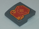 Part No: 15068pb143  Name: Slope, Curved 2 x 2 No Studs with Orange Radar and Speedometer Pattern (Sticker) - Set 70348