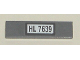 Part No: 2431pb076  Name: Tile 1 x 4 with 'HL 7639' Pattern (Sticker) - Set 7639