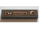 Part No: 2431pb541L  Name: Tile 1 x 4 with Gray and Orange Control Panel Pattern Model Left Side (Sticker) - Set 75144