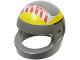Part No: 2446pb02b  Name: Minifigure, Headgear Helmet Standard with SW Red Stripe Pattern Small (A-wing)