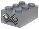 Part No: 3002pb23  Name: Brick 2 x 3 with Diamond Bricks with White Highlights on One Diamond Pattern on End (Sticker) - Set 9473