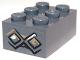 Part No: 3002pb24  Name: Brick 2 x 3 with Diamond Bricks with White Highlights on Both Diamonds Pattern on End (Sticker) - Set 9473