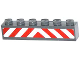 Part No: 3009pb180  Name: Brick 1 x 6 with Red and White Danger Stripes Pattern (Sticker) - Set 60061