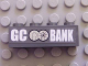 Part No: 3010pb082  Name: Brick 1 x 4 with 'GC BANK' and GC Bank Logo Pattern (Sticker) - Set 7781