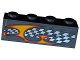 Part No: 3010pb185L  Name: Brick 1 x 4 with Checkered Flag and Flame Pattern Model Left Side (Sticker) - Set 8134
