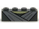 Part No: 3010pb225  Name: Brick 1 x 4 with Light Bluish Gray Robe Lapels and Tan Neck Pattern